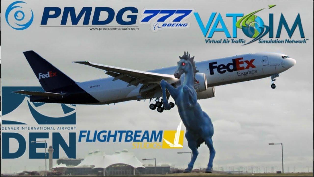 PMDG 777-200LR on Vatsim  FedEx Denver Crossing