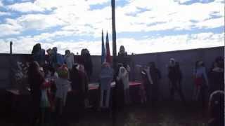 Inauguración año Preescolar, Paillaco 2013, alumnas Liceo Rodulfo Amando Philippi