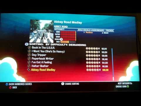 The Beatles: Rock Band All Songs FC inc DLC on Expert Vocals  Setlist Scroll HD