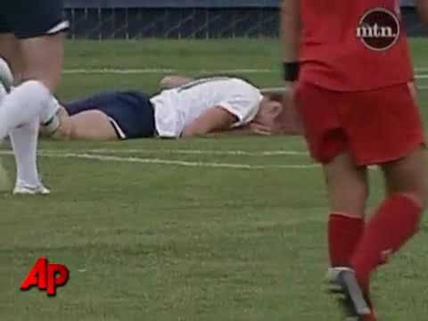 Raw Video~Soccer Player Throws Fist, Pulls Hair