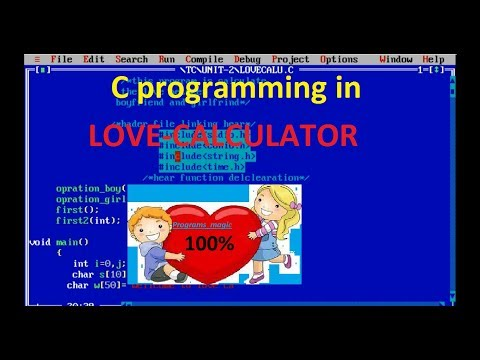 How to create  love-calculator in c/c++ ||0% graphics|| by Programs magic