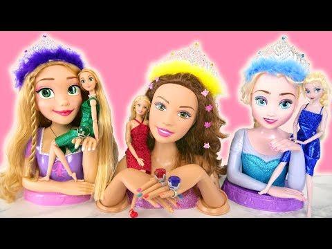 Barbie Jewel Sparkle Dress up Princess Rapunzel Elsa Bell dolls Gaun boneka Barbie Vestido da boneca