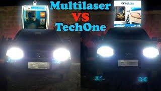 Multilaser 5000k vs TechOne 8500k - Lampada Super Branca - Qual a melhor?