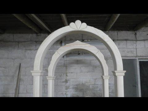 Изготовление деревянной арки / Production of wooden arch