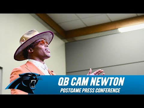 WATCH:Cam Newton Swag after beating the Bucs!