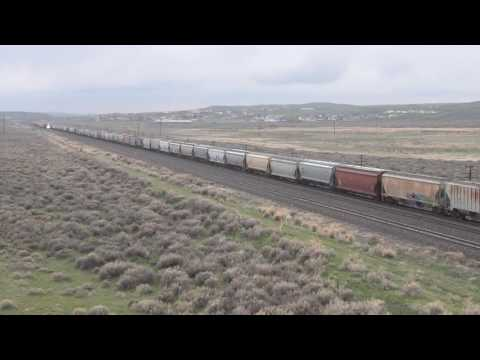 """First encounter with an """"unusual"""" freight - Hanna Wyoming"""