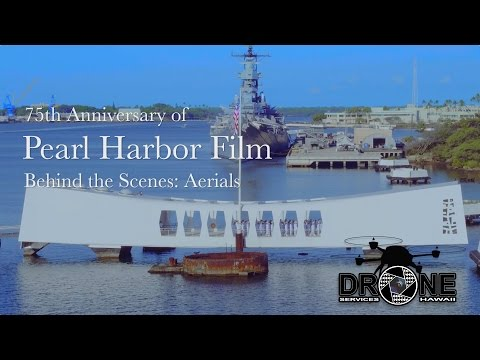 75th Anniversary of Pearl Harbor Film - BTS: Aerials by Drone Services Hawaii