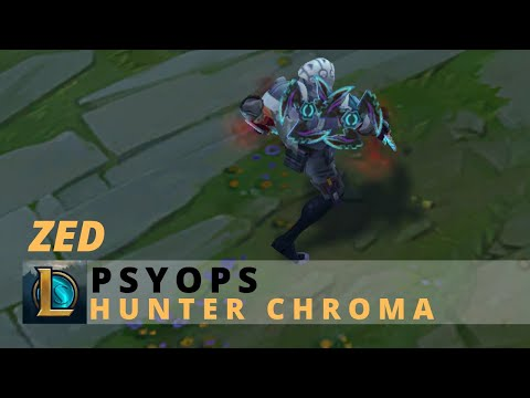 PsyOps Zed Hunter Chroma - League Of Legends