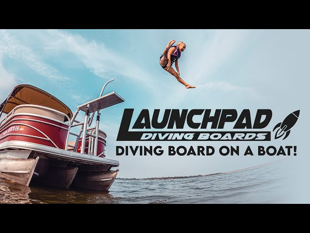 DIVING BOARD ON A BOAT! / LAUNCHPAD Diving Board Showcase, Installation & Review!