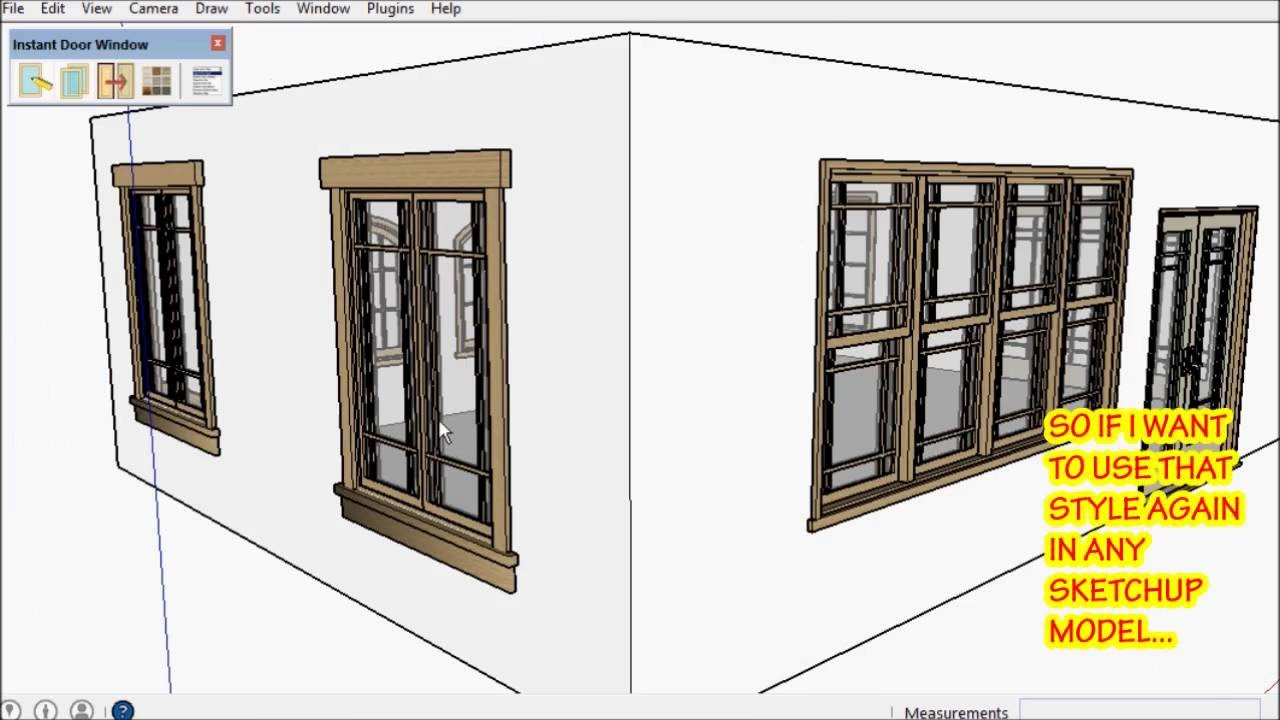& SketchUp Instant Door and Window Demo 2 - Vali Architects - YouTube