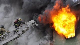 В Слониме в школе спасали человека, заблокированного пожаром на 3 этаже