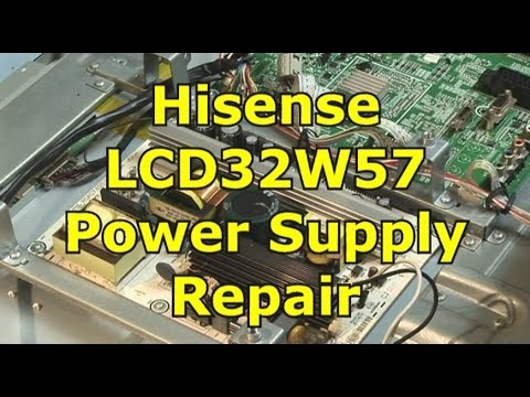 hqdefault hisense lcd32w57 power supply repair youtube  at creativeand.co