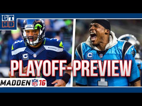 NFL Playoff Preview - Seattle Seahawks vs. Carolina Panthers  [Madden NFL 16/Deutsch]