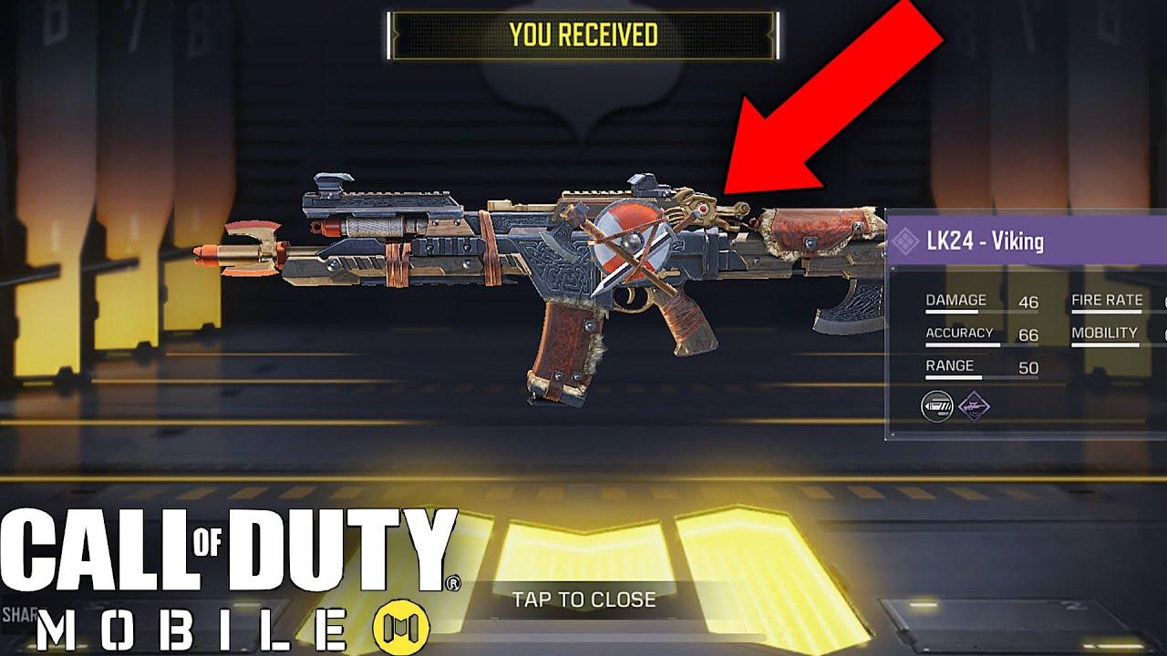 Call Of Duty Mobile Unlocking Epic Lk24 Viking Skin Gameplay Youtube
