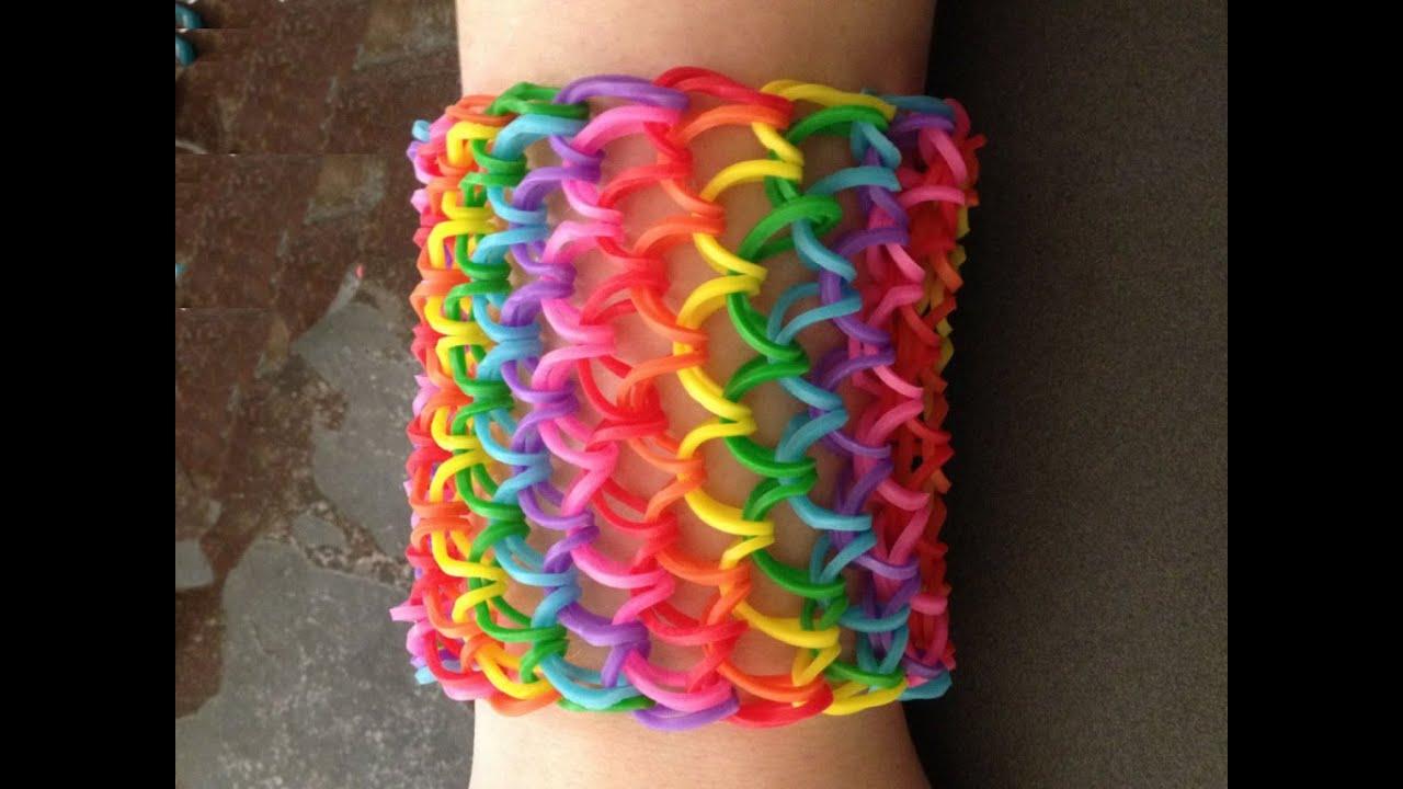 Rainbow Loom Dragon Scale Cuff Bracelet How To Youtube