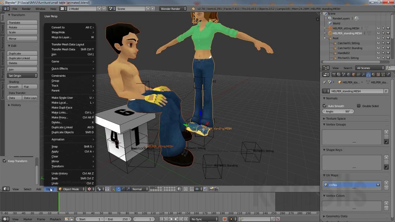 Make IMVU furniture using NODES : KatsBits TUTORIALS