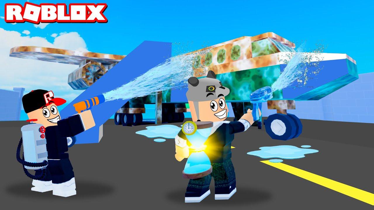 Uçak Yıkıyoruz!! Yeni Haritalara Geçtik - Panda ile Roblox Pressure Wash Simulator