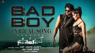 Saaho: Bad Boy Telugu  Lyrical Song    Prabhas, Jacqueline Fernandez   Badshah, Neeti Mohan
