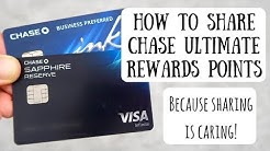 Sharing Your Chase Ultimate Rewards Points with Another Person   Understanding the Rules & Process