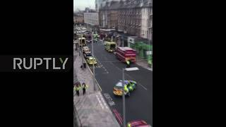 UK  Paramedics rush to scene after London bus crash