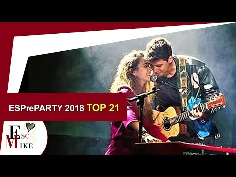 Eurovision Spain Pre-party 2018 - My top 21
