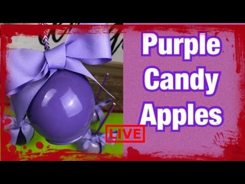 HOW TO ACHIEVE PURPLE CANDY APPLES (I Burnt My Candy Mix )
