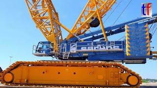 **1200 t Heavy Weight** TEREX DEMAG CC 6800 , Baustelle Albvorlandtunnel, Kirchheim/Teck, 2017.