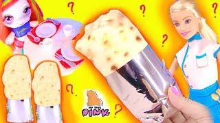 ЧТО В БУРРИТО?! НОВЫЕ #СЮРПРИЗЫ В ЕДЕ! Единорожки + Барби Мультик! Surprise Toys