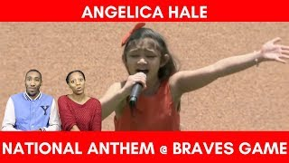 "Angelica Hale - Singing ""NATIONAL ANTHEM"" Braves Game Opening Reaction!"