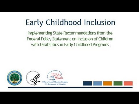 Early Childhood Inclusion Webinar