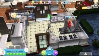 Sims free play Открытие ресторана(У Викули в гостях. Это первое видео моей коллекции., 2015-02-06T00:46:49.000Z)