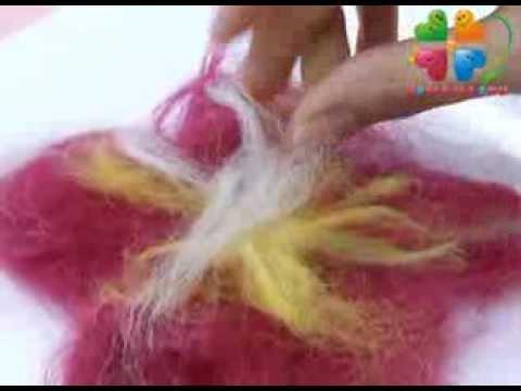Валяние из шерсти Как сделать цветок украшение для одежды