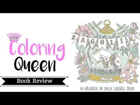 Sagolikt (Fairy Tales) (Fabulous) Swedish Adult Coloring Book - Emelie Lidehall Oberg