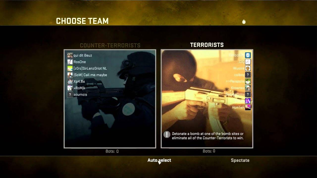 CSGO team select