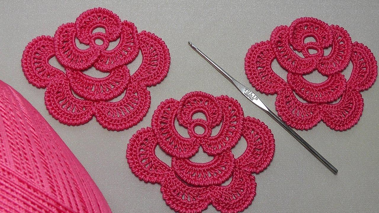 Вязание крючком розы со схемами фото 116