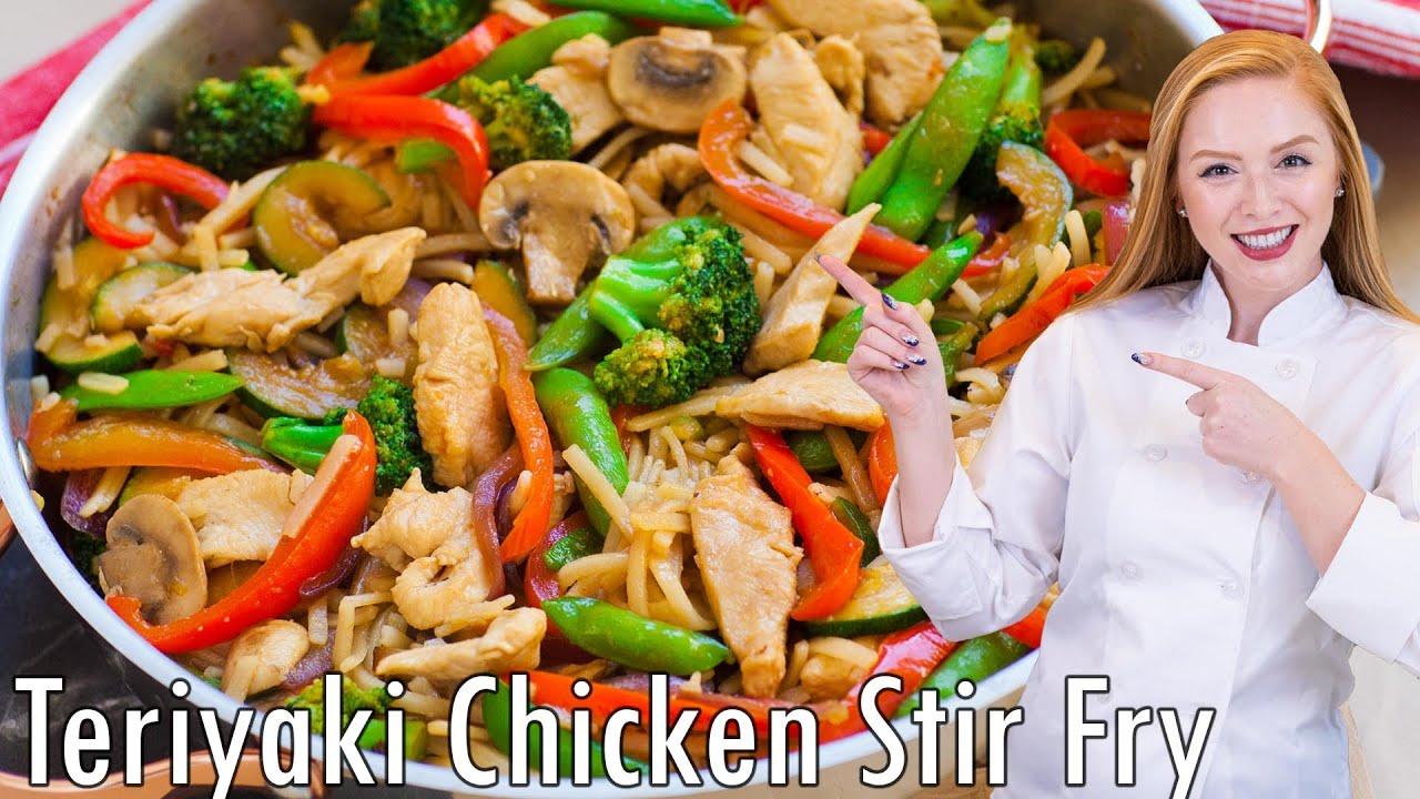 Teriyaki Chicken Stir Fry Youtube