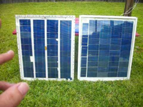 HOMEMADE SOLAR PANEL NUMBER 2. 24 VOLTS X 3.6 AMPS = 86 WATTs