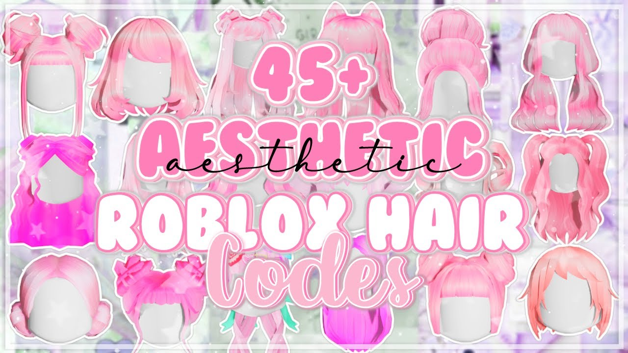 45 Aesthetic Pink Hair Codes For Bloxburg Roblox Youtube