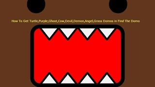 How To Get Turtle,Purple,Ghost,Cow,Devil,Demon,Angel,Grass Domo