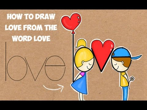 Word Drawing: How to Draw Love From the Word Love - YouTube | 480 x 360 jpeg 34kB