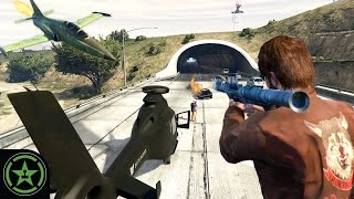 "Let's Play - GTA V - Plane Insertion(MICHAEL: ""Gavin wants to fly a plane upside down through a tunnel and have the wheels touch the ceiling of the tunnel."" GAVIN: ""Yeah, so you can drive on the ..., 2016-08-29T14:00:02.000Z)"