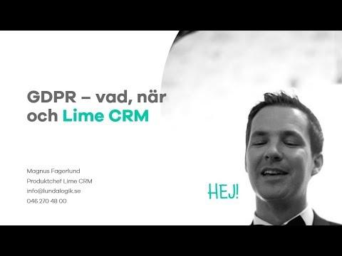 Lime CRM och GDPR