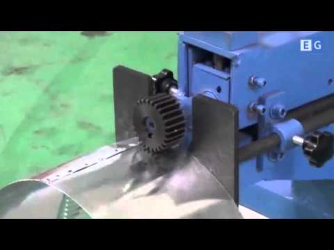 Станок для формовки фланцев отводов воздуховодов