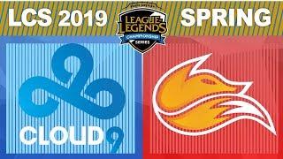 C9 vs FOX - LCS 2019 Spring Split W4D1 - Cloud9 vs Echo Fox