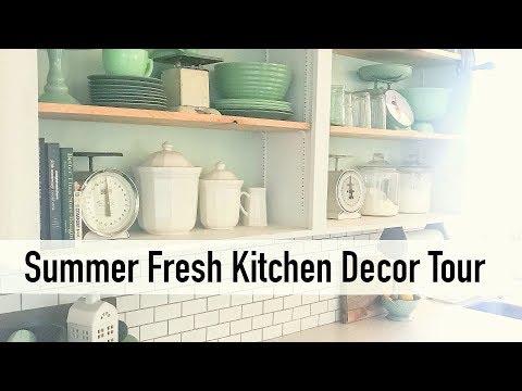 Summer Fresh Kitchen Decor Tour  2018