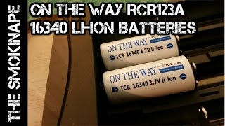 On The Way RCR123a - 16340 Li-Ion Rechargeable Batteries - Capacity Testing - TheSmokinApe
