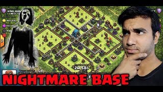CLASH OF CLANS Nightmare base👻 4 SQUARE BASE HOW I GET 3 STAR (Hindi)sam1735