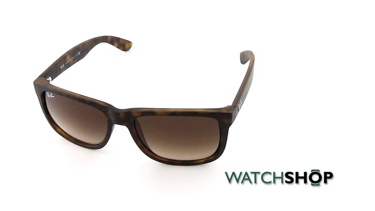 64aaa735deb Ray-Ban Men s Justin Classic Sunglasses (RB4165-710 13-55) - YouTube