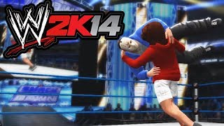 WWE 2K14 Lui Calibre vs H2O Delirious (Table Match)