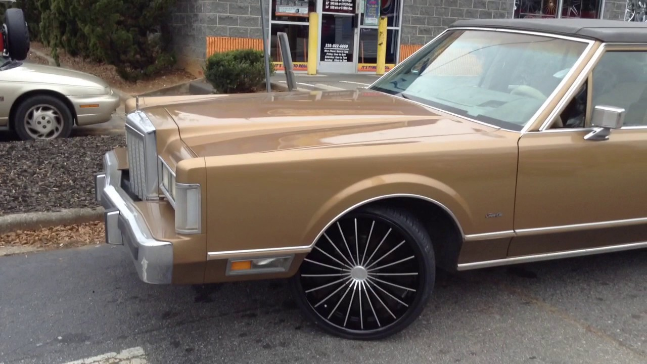 1986 Lincoln Town Car Rolling On 22 Kronik Kush S Leaving Rimtyme